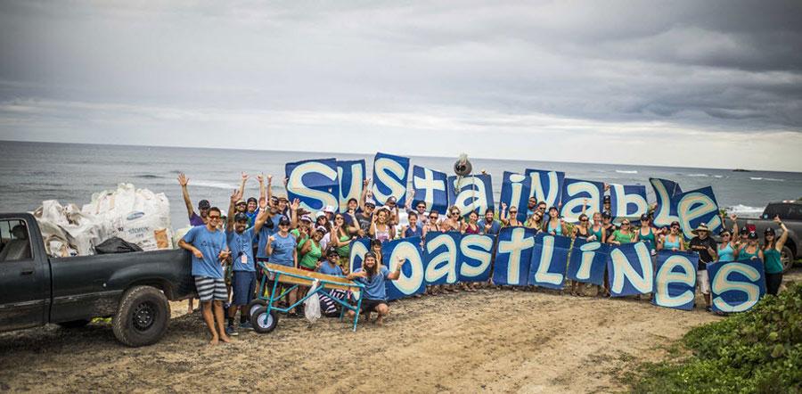 Sustainable coastlines team standing on coastline